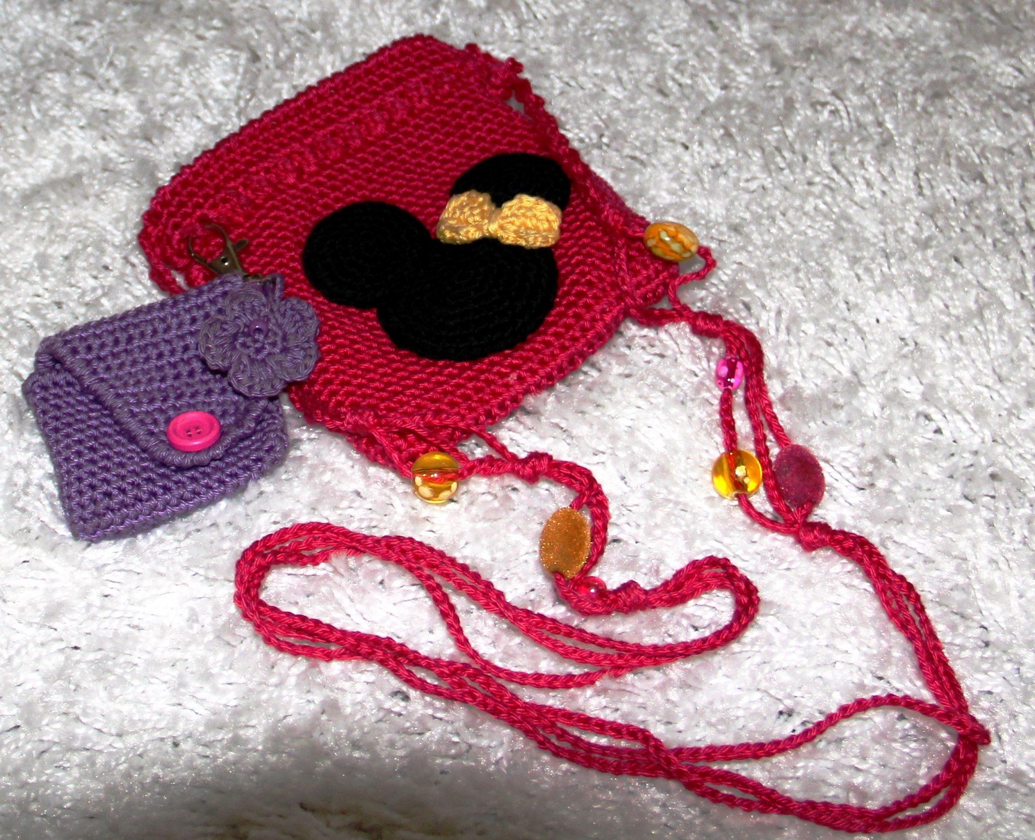 Gratis haakpatroon Minnie Mouse tasje op De vrolijke roze vlinder