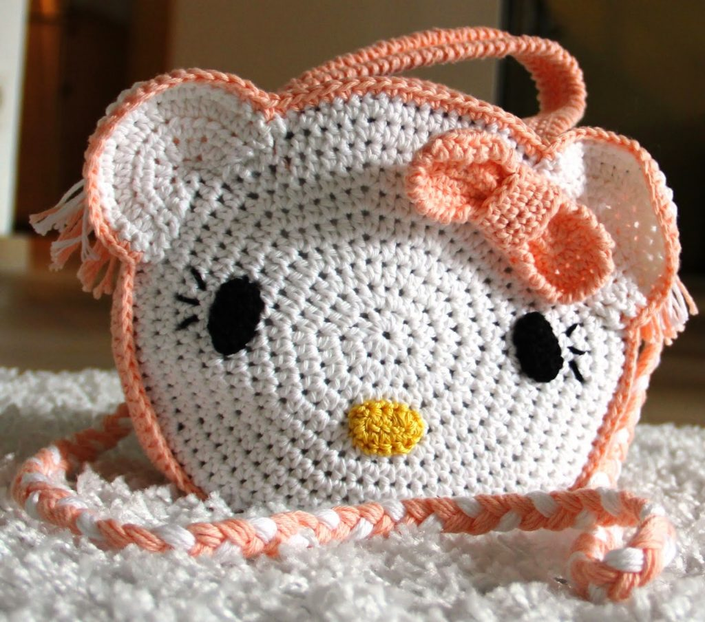Haakpatroon / tutorial Hello Kitty tasje