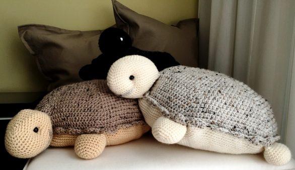 Haakpatroon / tutorial 3 gehaakte schildpadden