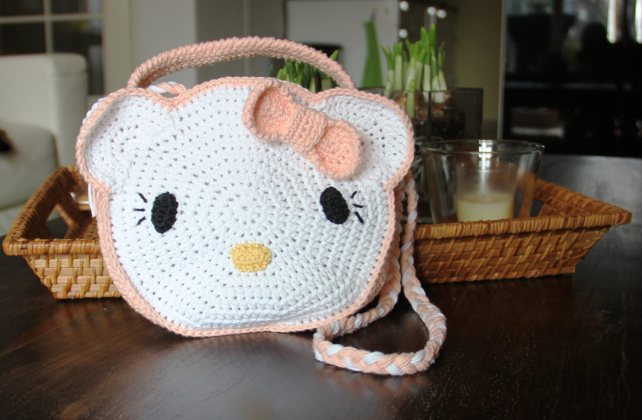 Haakpatroon / tutorial gevoerd Hello Kitty tasje