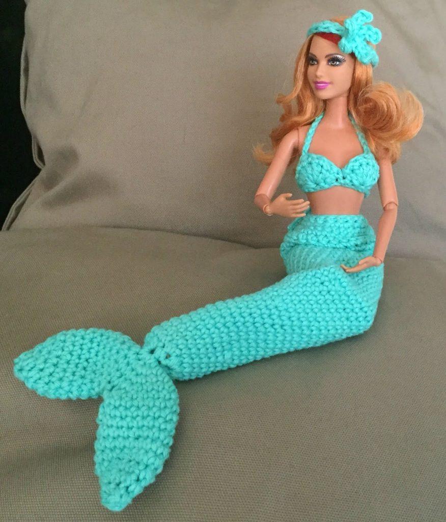 Haakpatroon Barbie als zeemeermin | De vrolijke roze vlinder