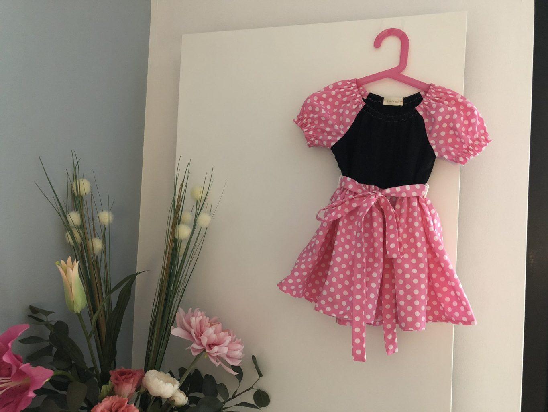 Naaipatroon Minnie Mouse jurkje | De vrolijke roze vlinder