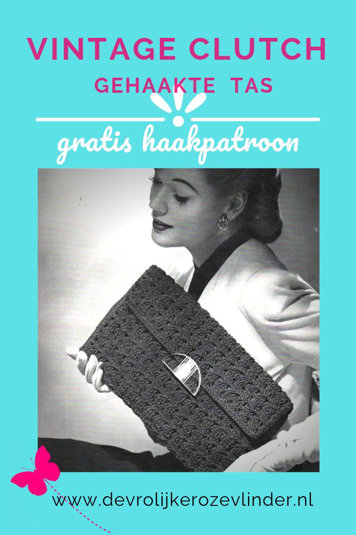 Gratis haakpatroon vintage clutch / enveloppetas