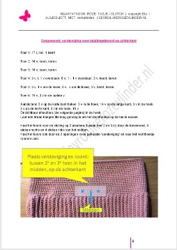 Haakpatroon roze tasje, DIY, tutorial, direct downloaden