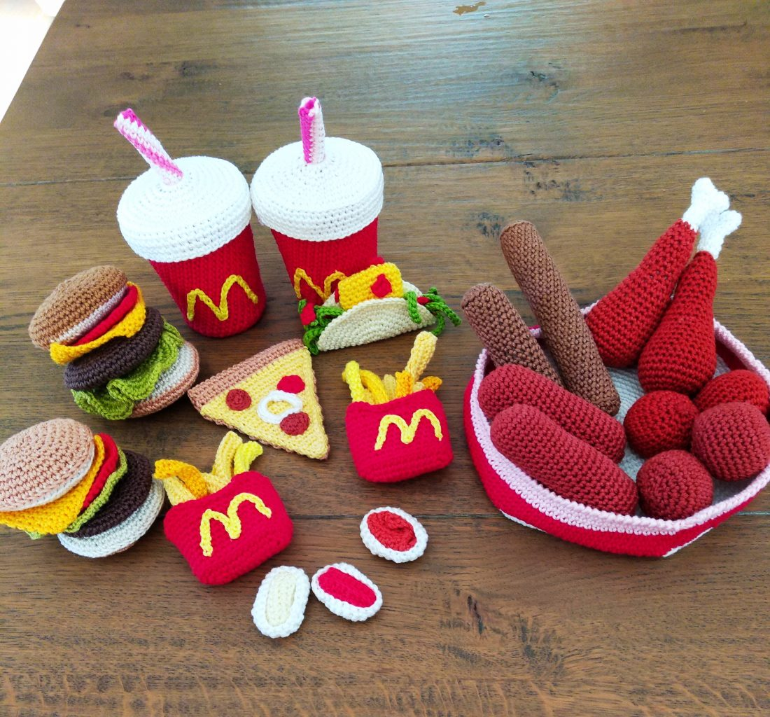 Happy Meal, gehaakt door Nel