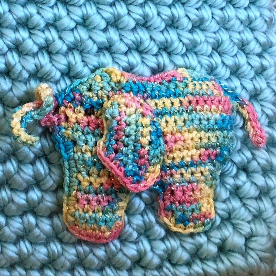 Gratis haakpatroon olifantje applicatie